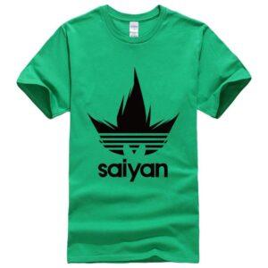 DBZ Black Saiyan Adidas Parody Print Dark Green T-Shirt
