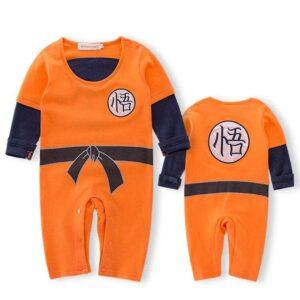 DBZ Long Sleeve Goku's Kanji Black Belt Cosplay Baby Jumpsuit