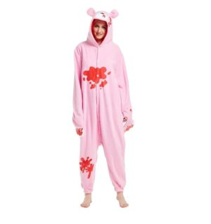 Pink Gloomy Bear Kigurumi Red Stained Onesie Pajama
