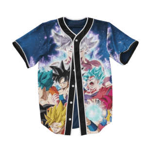 Goku & Son Gohan Super Saiyan Evolution Baseball Jersey
