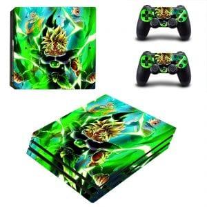 Angry Broly Super Saiyan Blue Goku Vegeta Green PS4 Pro Skin