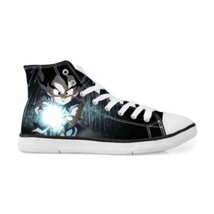 Kid Goku Kamehameha Black Streetwear Dope Sneakers Converse Shoes