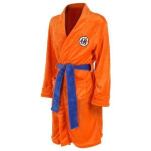 Dragon Ball Z Inspired Goku Kanji Adult Orange Bathrobe