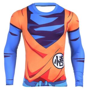 King Kai Training Goku Symbol Long Sleeves 3D Compression T-shirt