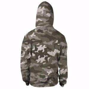 Majin Vegeta Camo Military Camouflage Dab Dance Grey Hoodie - Saiyan Stuff - 2