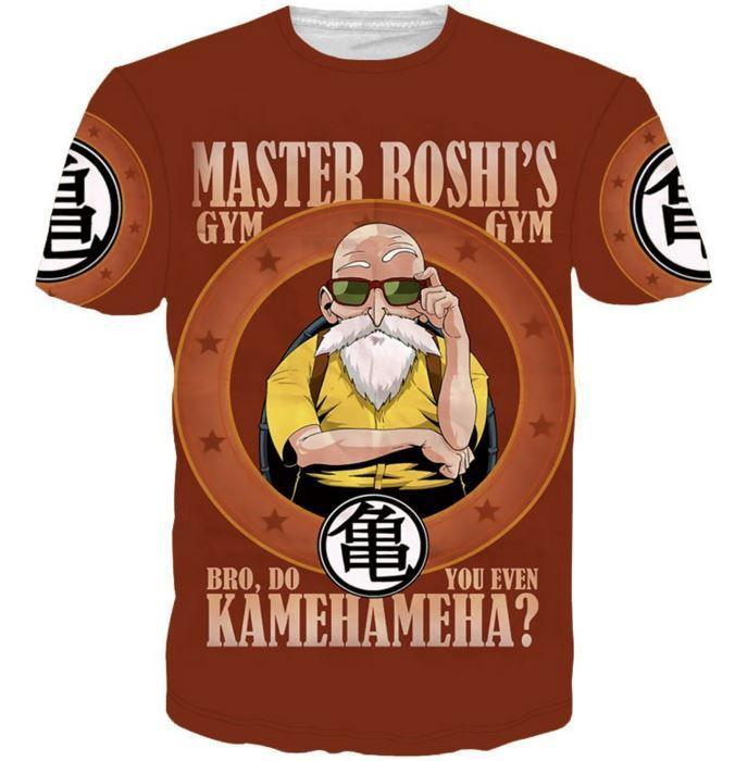 Master Roshi Gym Bro Do You Even Kamehameha Funny DBZ T-Shirt - Saiyan Stuff