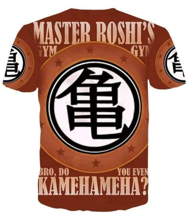 Master Roshi Gym Bro Do You Even Kamehameha Funny DBZ T-Shirt - Saiyan Stuff