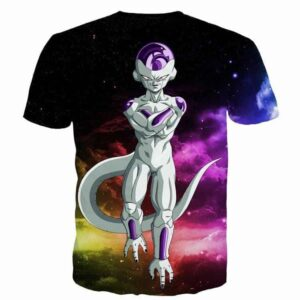 Mighty Frieza Flying Space Galaxy Swag Black Ultimate 3D T-Shirt - Saiyan Stuff