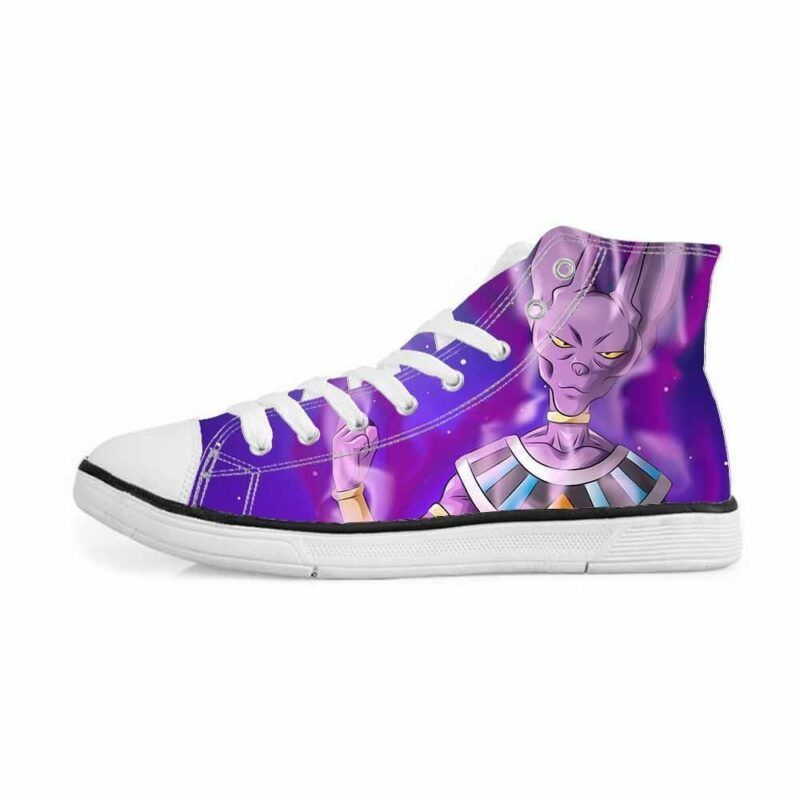 Powerful Lord Beerus God of Destruction Cat Sneakers Converse Shoes