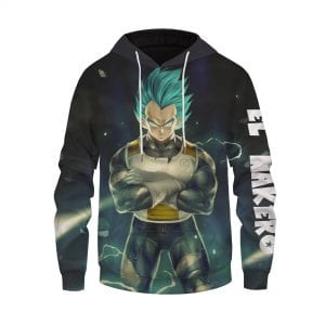 Dragon Ball Z Electrifying Vegeta Super Saiyan Blue Hoodie
