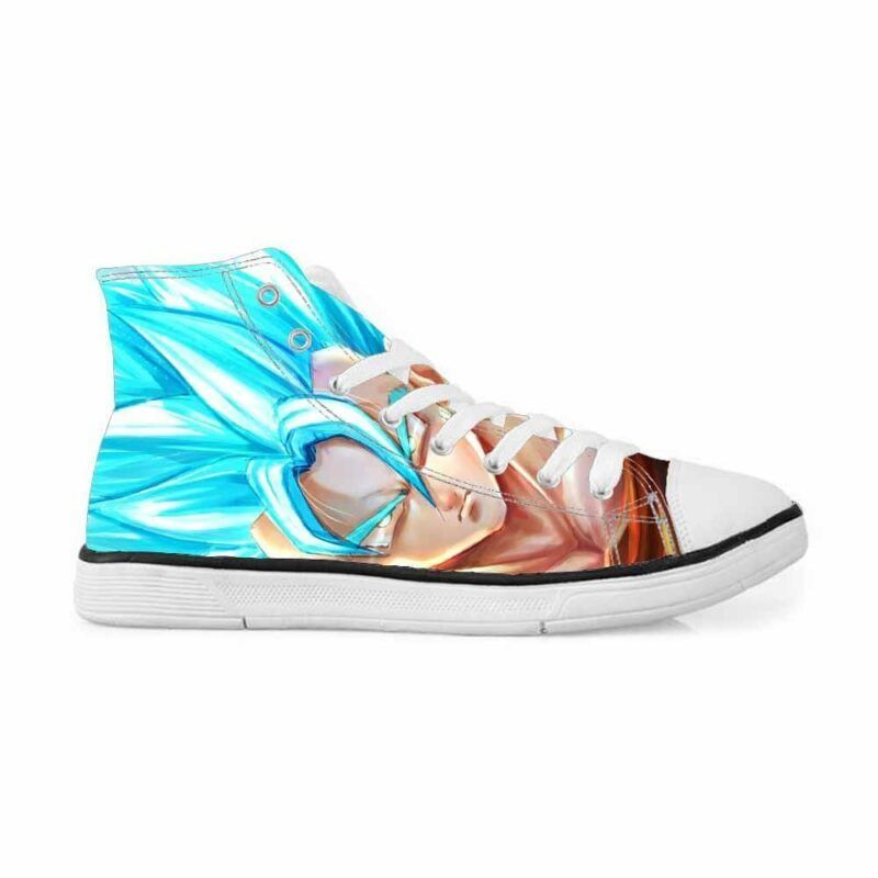 SSJSS Super Saiyan Blue Goku Graffiti Style Sneakers Converse Shoes