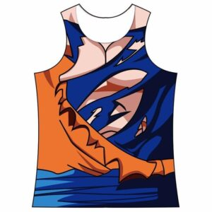 Son Goku Costume Gear Battle Damaged 3D Workout Tank Top - Saiyan Stuff