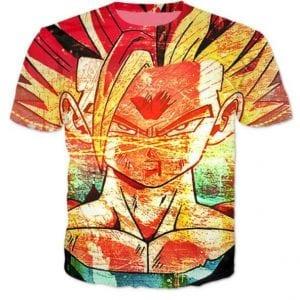 Super Saiyan 2 Gohan SSJ2 Graffiti Style T-Shirt - Saiyan Stuff