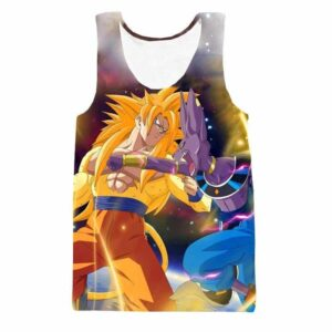 Super Saiyan 3 SSJ3 Goku Versus Destruction God Beerus Tank Top - Saiyan Stuff