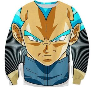 Super Saiyan God Super Saiyan Blue Vegeta Cool Sweatshirt - Saiyan Stuff