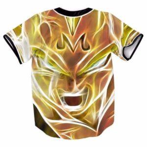Super Saiyan Majin Vegeta DBZ Streetwear Hip Hop 3D Baseball Jersey - Saiyan Stuff - 2