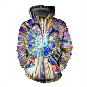 Super Saiyan Son Gohan Kamehameha Multicolor Cool Pocket Hoodie - Saiyan Stuff