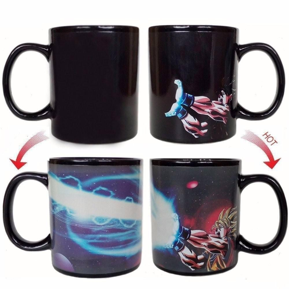 Super Saiyan Son Goku Kamehameha Heat Sensitive Color Changing Mug
