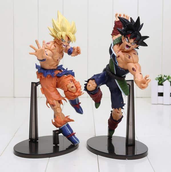 Super Saiyan Son Goku Vs Bardock Battle Damage PVC Action Figure 23cm - Saiyan Stuff