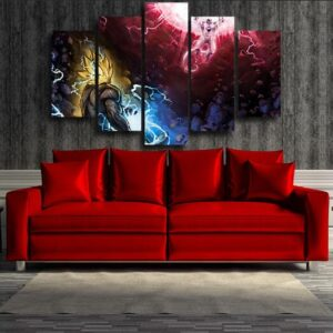 Dragon Ball Z Frieza & Son Goku Clash 5pcs Canvas Print