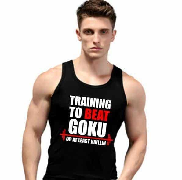 Training to Beat Goku or at Least Krillin Men Tank Top - Saiyan Stuff