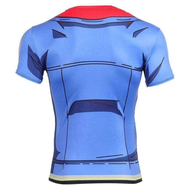 Trunks Blue Jacket Cosplay Compression 3D Workout T-Shirt