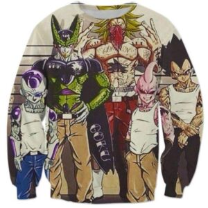 Usual Suspects Dragon Ball Z Wanted Vintage Sweatshirt - Saiyan Stuff