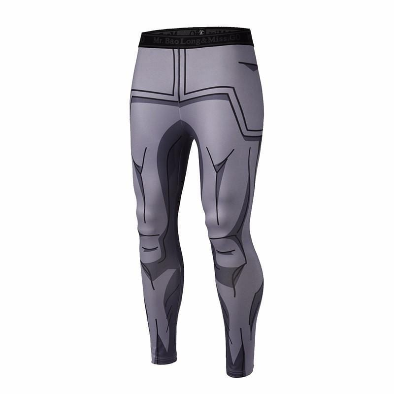 Vegeta Resurrection F Armor Black Waist Fitness Gym Compression Leggings Pants - Saiyan Stuff - 1