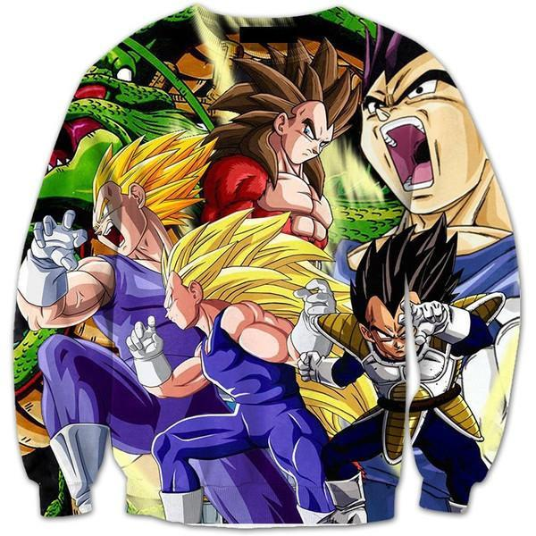 Vegeta Ultimate Super Saiyan Transformations SSJ4 3D Sweatshirt - Saiyan Stuff