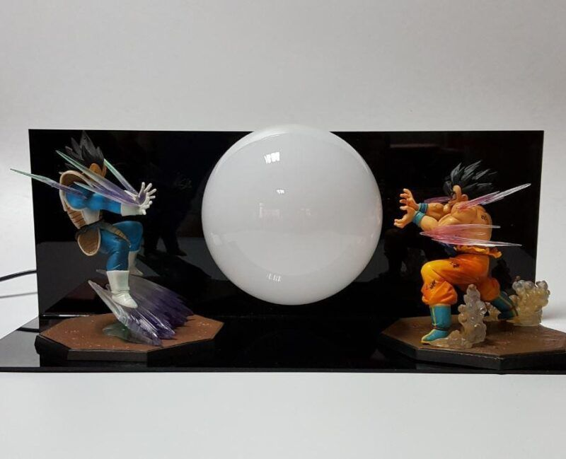 Vegeta Vs Goku Dragon Ball Kamehameha Battle Fight Display DIY Lamp - Saiyan Stuff - 2