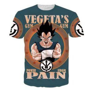 Vegeta's Gym Power From Pain Funny DBZ T-Shirt - Saiyan Stuff