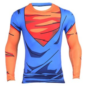 Vegetto Vegito Goku Vegeta Fusion 3D Workout Compression T-Shirt