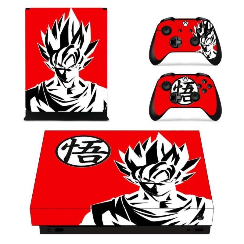 Dragon Ball Z Son Goku And His Kanji Red Xbox One X Skin