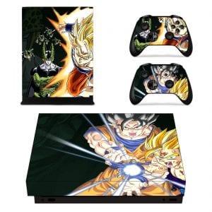 Dragon Ball Super Son Goku Gohan And Cell Xbox One X Skin