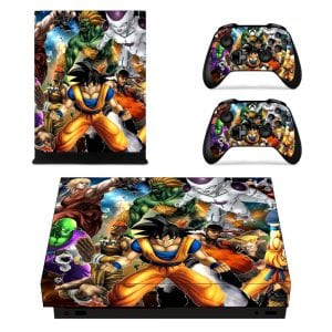 Dragon Ball & Street Fighter Characters Xbox X Console Skin