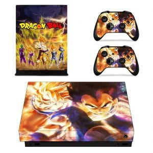 Dragon Ball Mighty Powerful Super Saiyan Xbox X Console Skin