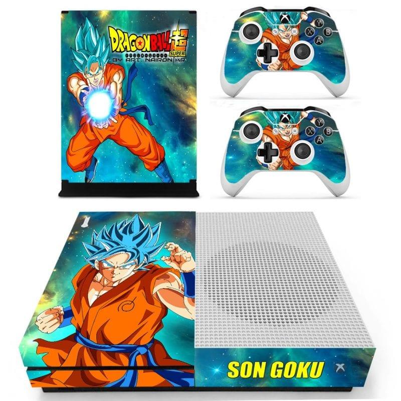 Dragon Ball Super Goku Blue Stunning Kamehameha Xbox S Skin
