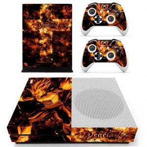 Dragon Ball Z Vegeta Super Explosive Wave Dark Orange Xbox S Skin