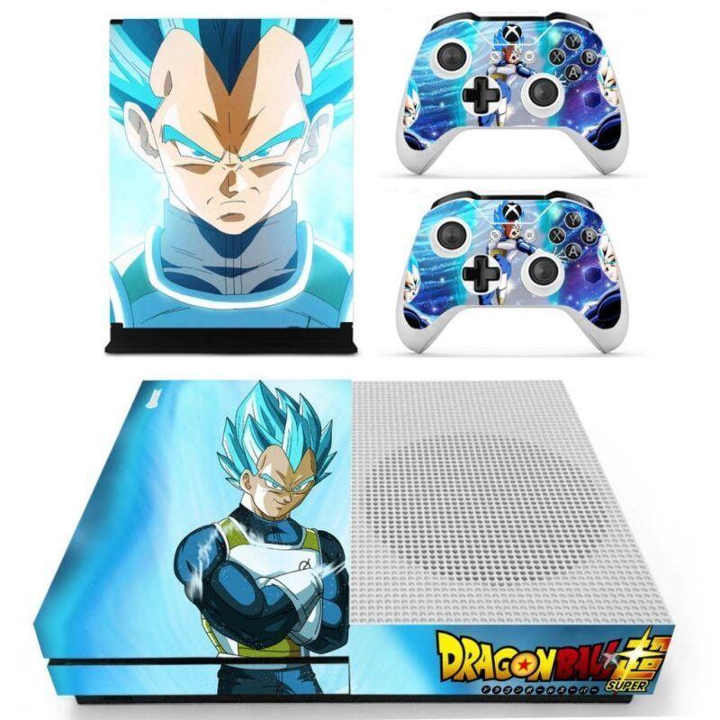 Dragon Ball Super Saiyan Vegeta Blue Kaioken Xbox One S Skin