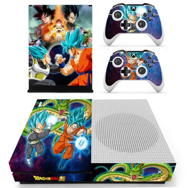 Dragon Ball Super Son Goku & Vegeta Blue Xbox One S Skin