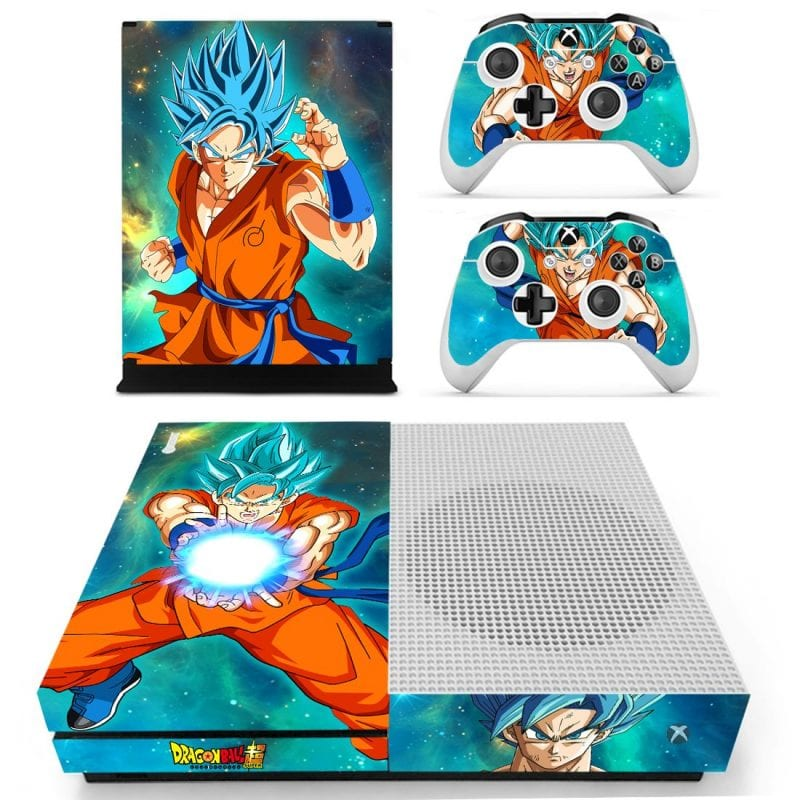 Dragon Ball Super Saiyan Goku Blue Kamehameha Xbox One S Skin