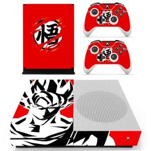 Dragon Ball Goku Kanji Monochrome Vector Art Red Xbox S Skin