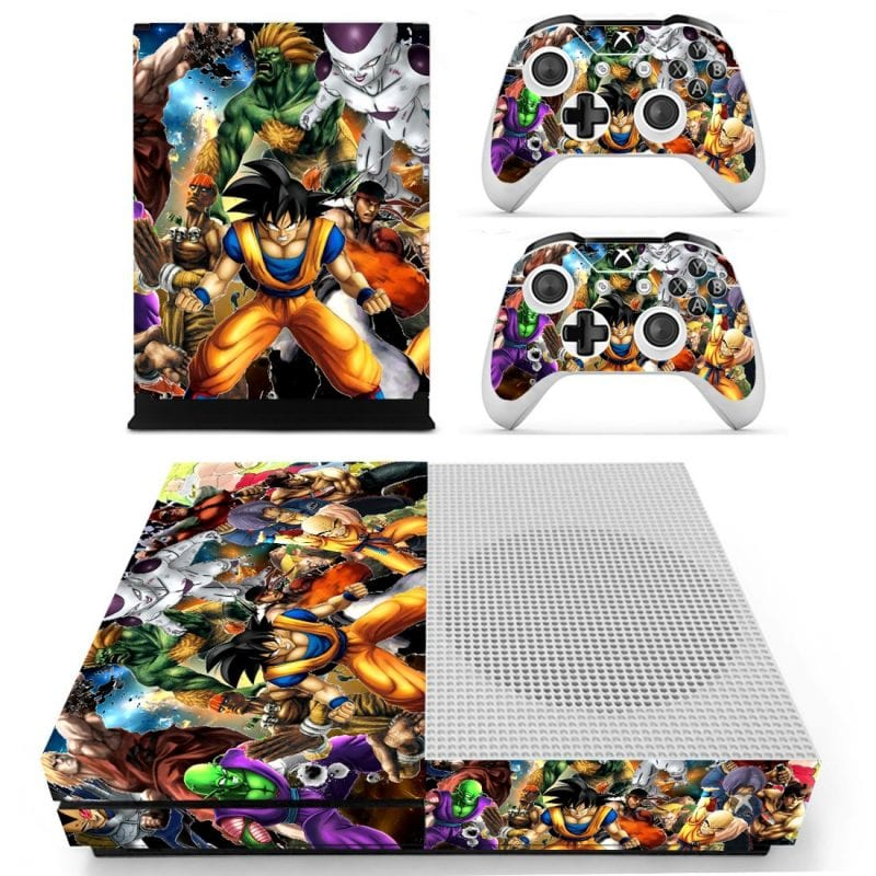 Dragon Ball & Street Fighter Characters Xbox S Console Skin