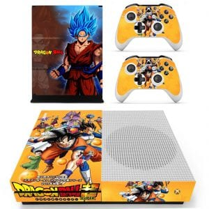 Dragon Ball Super Goku Blue Super Saiyan Orange Xbox S Skin