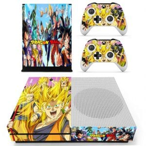 Cheerful DBZ Characters Happy Son Goku Xbox One S Skin