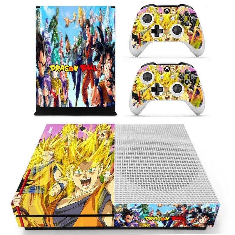 Cheerful DBZ Characters Happy Son Goku Xbox One S Skin