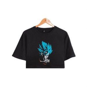 Dragon Ball Z Marvelous Super Saiyan God Son Goku Printed Crop