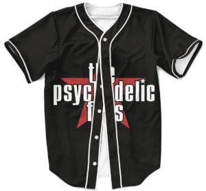 The Psychedelic Furs Talk Talk Talk Black Baseball Jersey