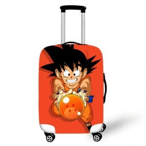 Kid Goku Catching Dragon Ball Orange Suitcase Protective Cover