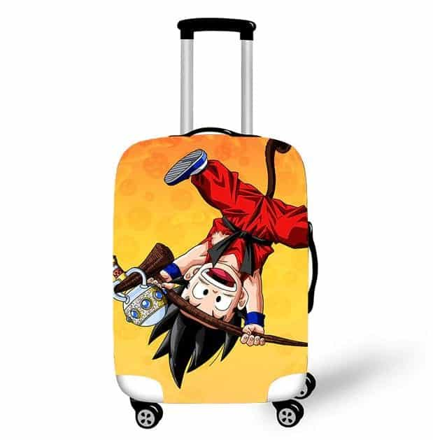 Goku Holding Korin's Staff Upside Down Image Suitcase Cover